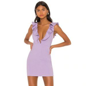 NEW NBD x Naven Ruffle Purple Mini Dress Small H58